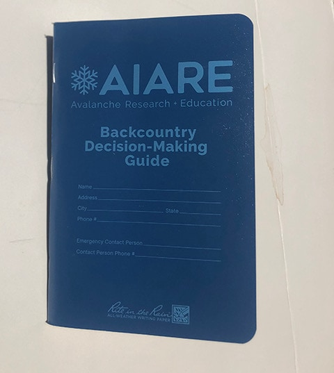 AIARE backcountry decision making guide
