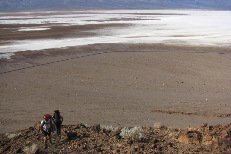 High above Badwater salt flats